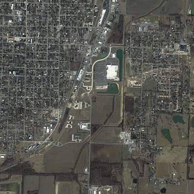 Ikonos Satellite Photograph - Tornado Damage, Harrisburg, Usa by Science Photo Library