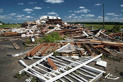 Flattened Photograph - Tornado Damage by Jim West