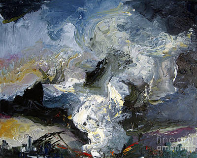 Painting - Tornado Disaster Struck At Night by Ginette Callaway