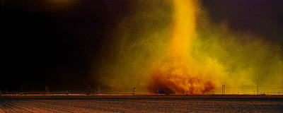 Tornado In A Field Art Print by Panoramic Images