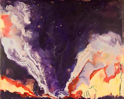 Encaustic Painting - Tornado - Ok - July 2 1999 by Marilyn Fenn