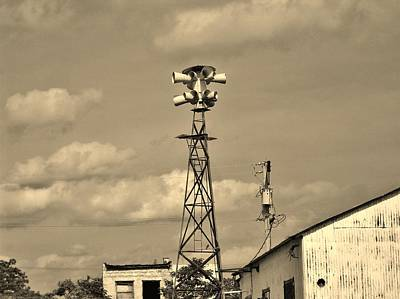 Photograph - Tornado Siren In A Ghost Town by Ed Sweeney