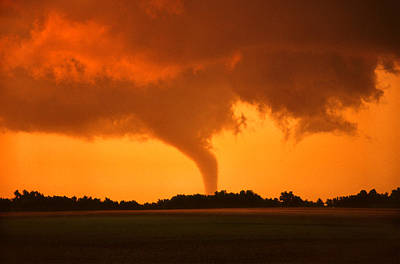 Print featuring the photograph Tornado Sunset by Jason Politte