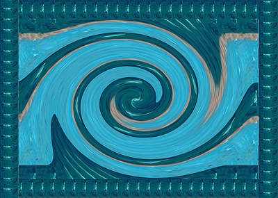 Stone Painting - Tornado Twirl Sparkle Blue Border Navinjoshi  Download Rights Managed Images Graphic Design Is A Str by Navin Joshi