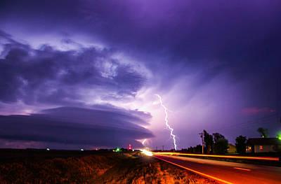 Tornado Warning In Northern Buffalo County Art Print by NebraskaSC