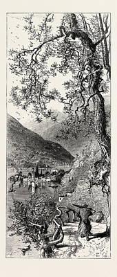 Lake Como Drawing - Torno, Lago Di Como, Lario, The Italian Lakes by Italian School