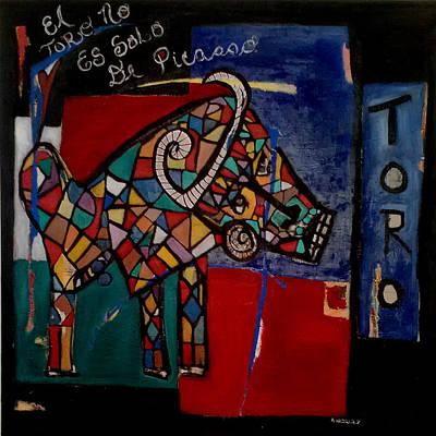 Painting - Toro by Andrea Vazquez-Davidson