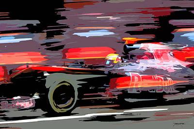 Toro Rosso Pit Art Print by Tano V-Dodici ArtAutomobile