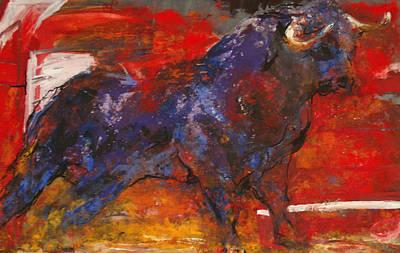 Painting - Toro Valiente      Courageous Bull by Koro Arandia