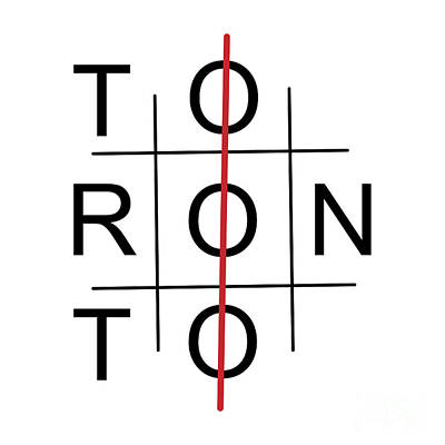 Toronto As Tic Tac Toe Game Art Print