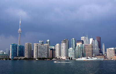 Photograph - Toronto Before Storm by Milena Ilieva