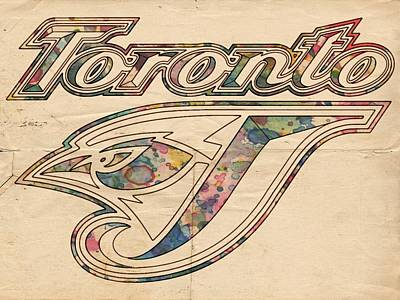 Painting - Toronto Blue Jays Logo Art by Florian Rodarte