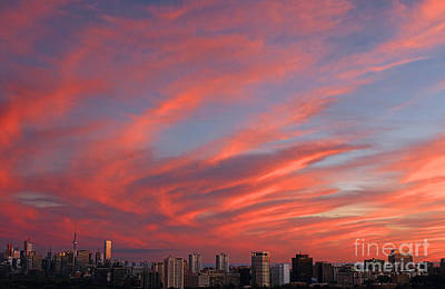 Photograph - Toronto Burning Sky by Charline Xia