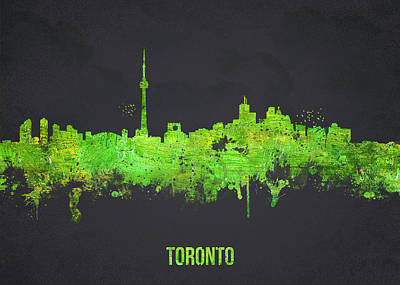 Canadian Mixed Media - Toronto Canada by Aged Pixel