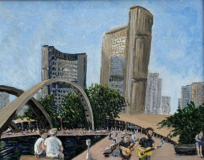 Painting - Toronto City Hall by Ian  MacDonald