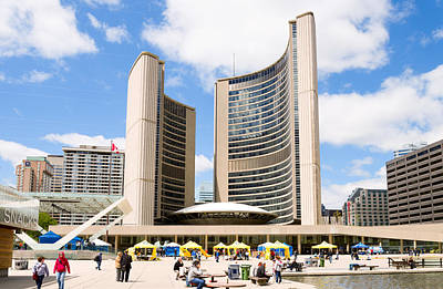 Toronto City Hall, Nathan Phillips Art Print by Panoramic Images