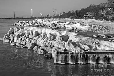 Photograph - Toronto Beach Freeze by Charline Xia