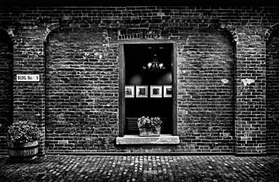 Toronto Distillery District Art Gallery Window Art Print by Brian Carson