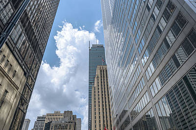 Photograph - Toronto Downtown  Skyscrapers On Bay Street  by Marek Poplawski