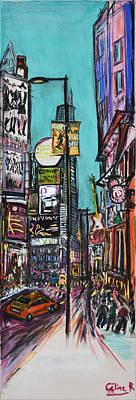 Large Painting - Toronto Dundas Square by Rubino CELINE