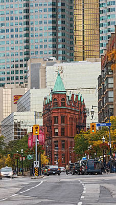 Photograph - Toronto Flatiron Building  by Marek Poplawski