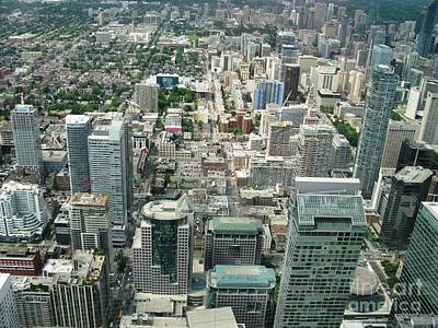 Photograph - Toronto From Cn Tower July 2014 by Ausra Huntington nee Paulauskaite