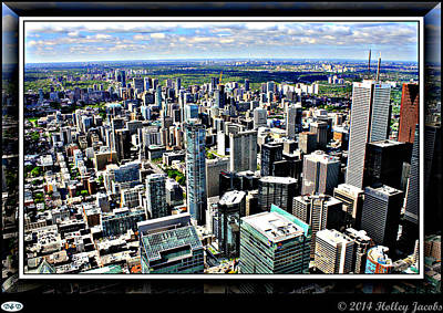 Digital Art - Toronto by Holley Jacobs