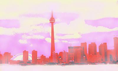 Digital Art - Toronto In The Clouds by Ian  MacDonald