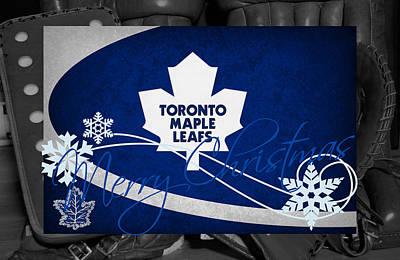 Toronto Maple Leafs Christmas Art Print by Joe Hamilton