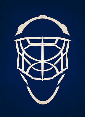 Toronto Maple Leafs Photograph - Toronto Maple Leafs Goalie Mask by Joe Hamilton
