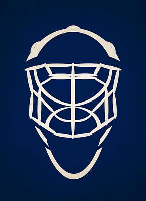 Toronto Maple Leafs Goalie Mask Art Print by Joe Hamilton