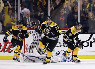 Photograph - Toronto Maple Leafs V Boston Bruins - by Jared Wickerham