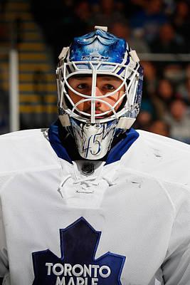 Photograph - Toronto Maple Leafs V New York Islanders by Mike Stobe