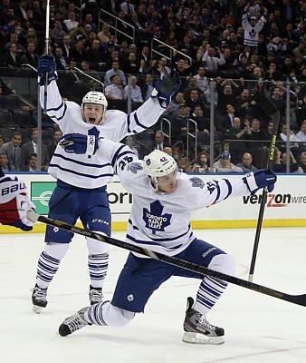 Scoring Photograph - Toronto Maple Leafs V New York Rangers by Bruce Bennett