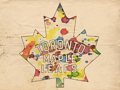 Toronto Maple Leafs Digital Art - Toronto Maple Leafs Vintage Poster by Florian Rodarte