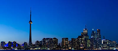 Photograph - Toronto Night Skyline by Marek Poplawski