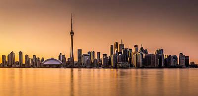 Toronto Panorama At Sunset Original