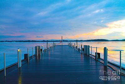 Toronto Pier During A Winter Sunset Art Print