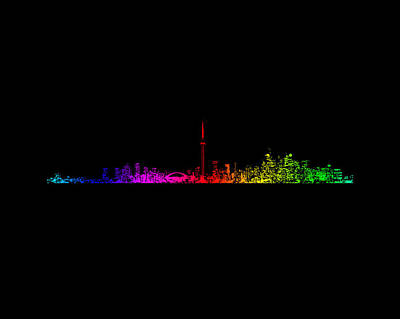 Abstract Skyline Rights Managed Images - Toronto Rainbow Royalty-Free Image by Brian Carson