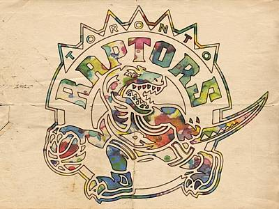 Painting - Toronto Raptors Poster Art by Florian Rodarte