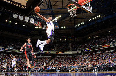 Photograph - Toronto Raptors V Sacramento Kings by Rocky Widner