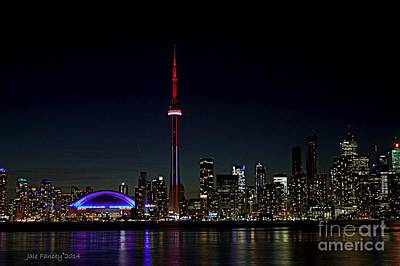 Photograph - Toronto Skyline At Night by Jale Fancey