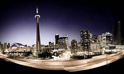 Toronto Skyline At Night Art Print