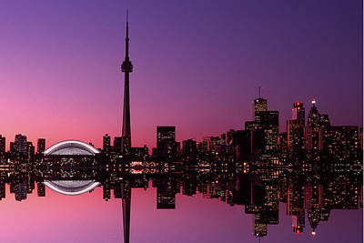 Toronto Skyline At Sunset, Toronto Art Print by Alan Marsh