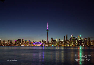 Toronto Skyline Colours Art Print