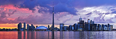 On Trend At The Pool - Toronto skyline by Elena Elisseeva