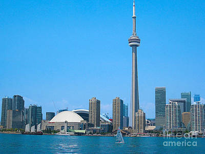 Photograph - Toronto Skyline From The Island Ferry by Nina Silver