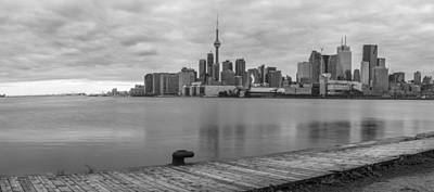 Photograph - Toronto Skyline In Black And White by John McGraw