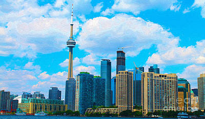 Photograph - Toronto Skyline In Summer by Nina Silver