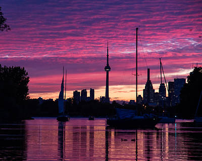 Toronto Skyline - The Boats Are Coming In Art Print